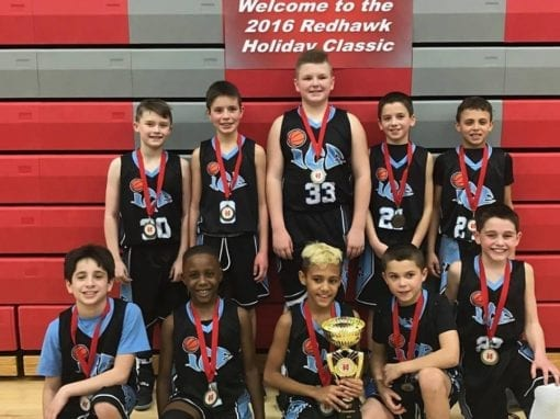 4th Grade Elite – 4th/5th Grade Division Champions of Redhawk Holiday Classic Finishing 4-0