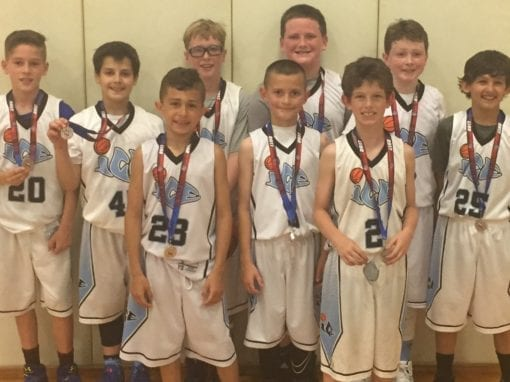 4th Grade White – 2nd Place of Central AAU Super Qualifier