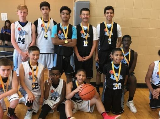 8th Grade with 7th Grade Players – Champions of FTG Fireworks Shootout