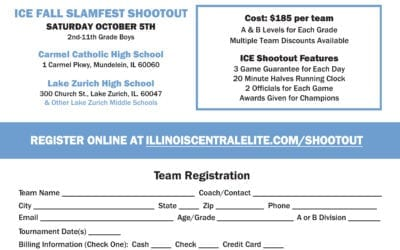 ICE Fall Slamfest Shootout – October 5th, 2019