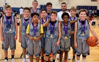 6th Grade White Champions in 6th/7th Grade Division Of The Back To School One Day Shootout